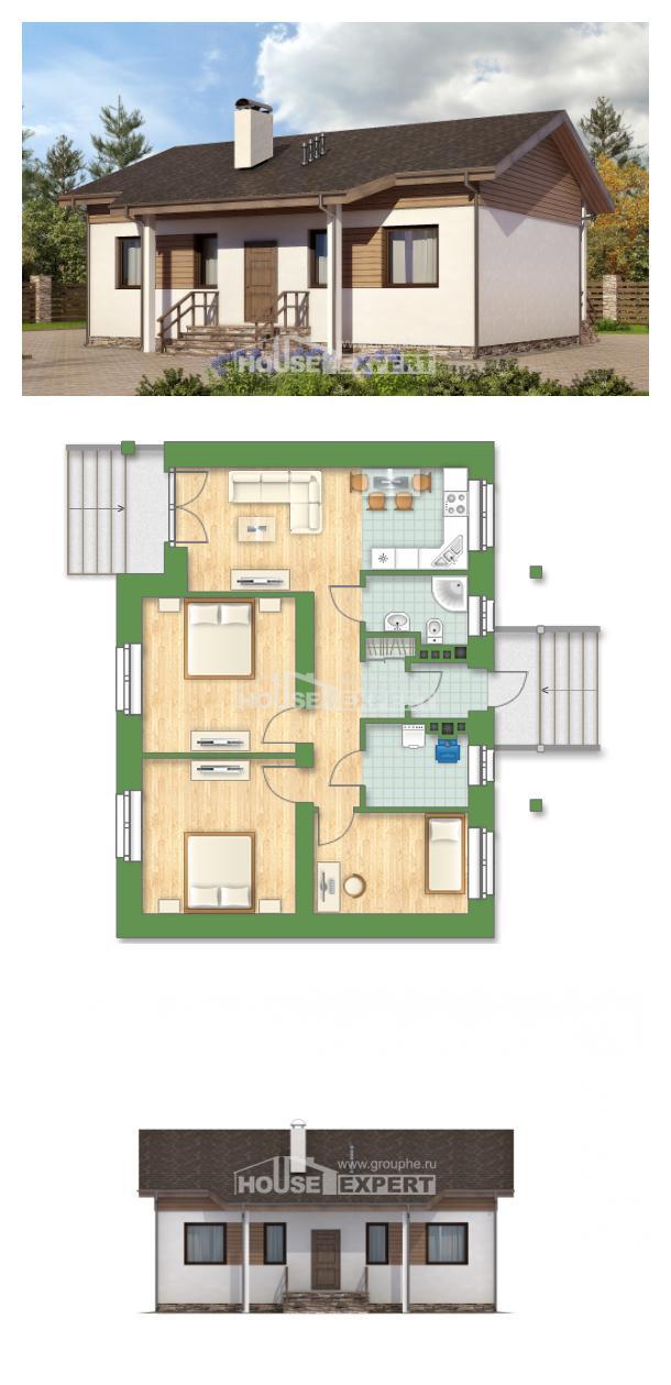 Проект дома 080-004-Л   House Expert